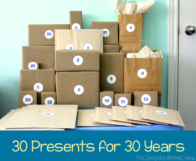 Best ideas about 30th Birthday Gift Ideas For Him . Save or Pin 30th Birthday Gift Idea 30 Presents for 30 Years • The Now.