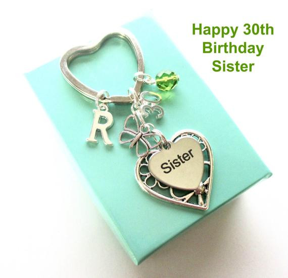Best ideas about 30Th Birthday Gift Ideas For Sister . Save or Pin 30th birthday t for Sister Personalised Sister keyring Now.