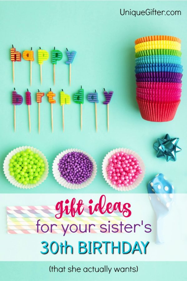 Best ideas about 30Th Birthday Gift Ideas For Sister . Save or Pin 20 Gift Ideas for your Sister s 30th Birthday Unique Gifter Now.