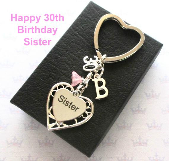 Best ideas about 30Th Birthday Gift Ideas For Sister . Save or Pin Sister 30th birthday t 30th keychain Sister t Now.