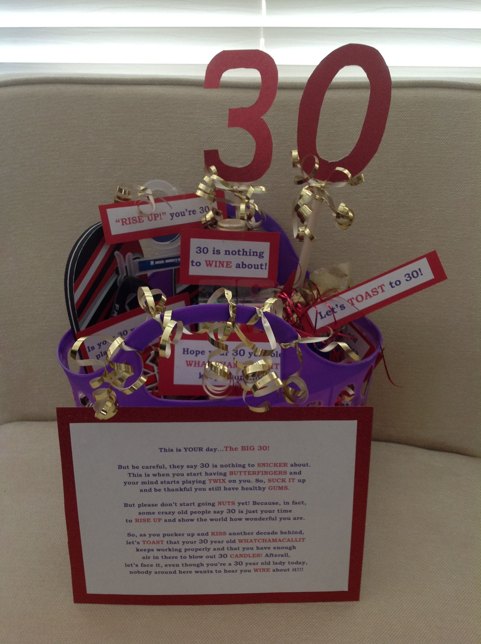 Best ideas about 30Th Birthday Gift Ideas . Save or Pin 30th birthday t basket Easy diy and so fun Now.