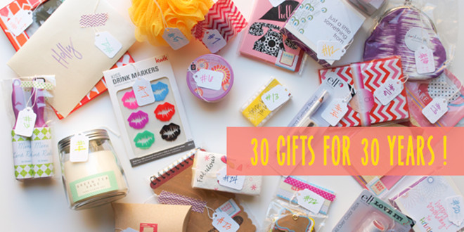 Best ideas about 30th Birthday Ideas For Her . Save or Pin 30 Gifts For 30 Years Now.