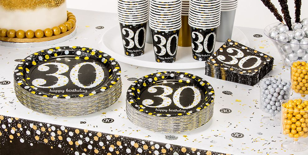 Best ideas about 30th Birthday Party Decor . Save or Pin Sparkling Celebration 30th Birthday Party Supplies Now.