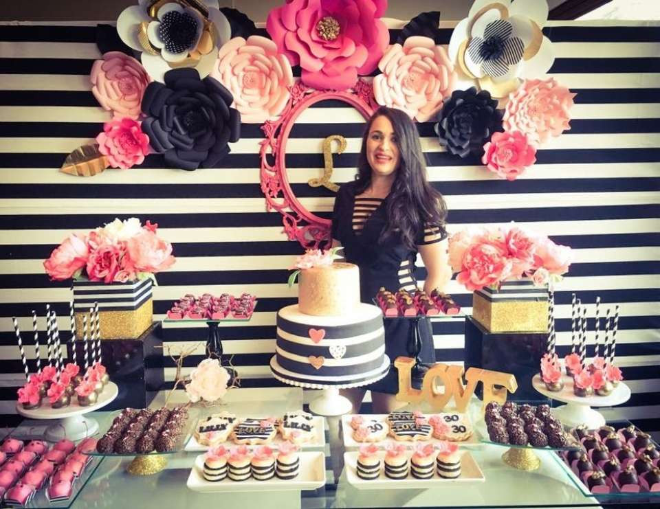 "Best ideas about 30th Birthday Party Decorations . Save or Pin Black white pink and a little golden Birthday ""My Now."