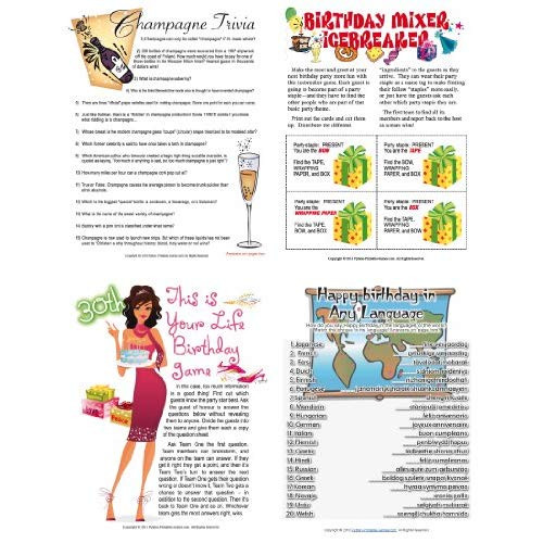 Best ideas about 30th Birthday Party Games . Save or Pin Printable 30th Birthday Party Games Pack Now.