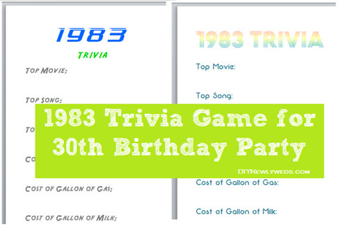 Best ideas about 30th Birthday Party Games . Save or Pin DIY Newlyweds DIY Home Decorating Ideas & Projects 1983 Now.