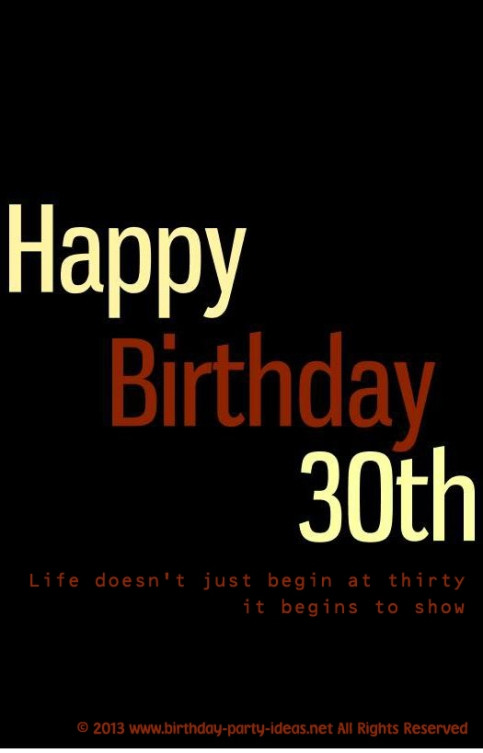 Best ideas about 30th Birthday Quotes . Save or Pin Happy 30th Birthday Quotes QuotesGram Now.