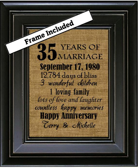 Best ideas about 35Th Anniversary Gift Ideas . Save or Pin 35th Wedding Anniversary 35th Anniversary Gifts 35th Now.
