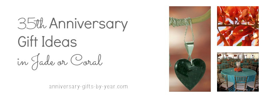 Best ideas about 35Th Anniversary Gift Ideas . Save or Pin 35th Wedding Anniversary Gifts Guide Now.