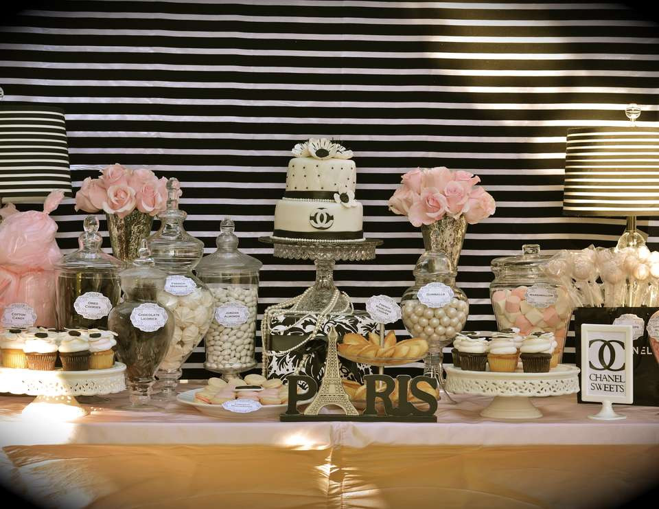 "Best ideas about 35th Birthday Decorations . Save or Pin Coco Chanel Parisian Birthday ""35th Birthday Celebration Now."
