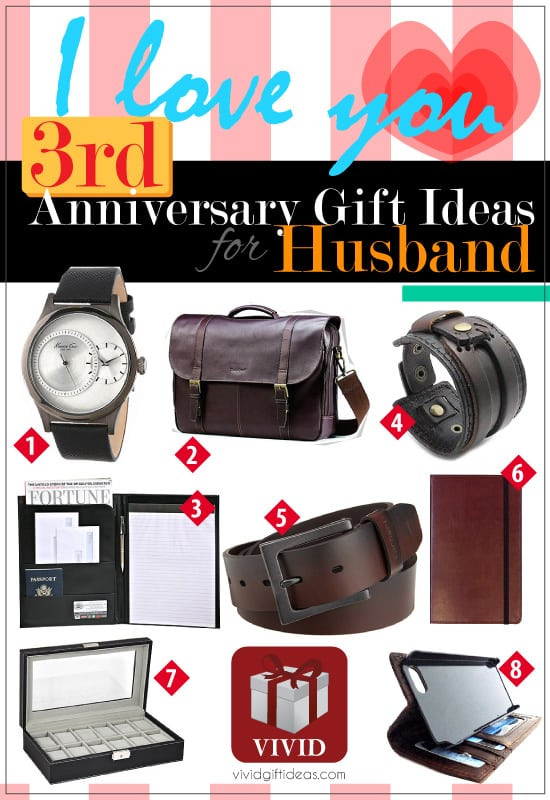 Best ideas about 3Rd Anniversary Gift Ideas For Him . Save or Pin 3rd Wedding Anniversary Gift Ideas for Him Vivid s Now.