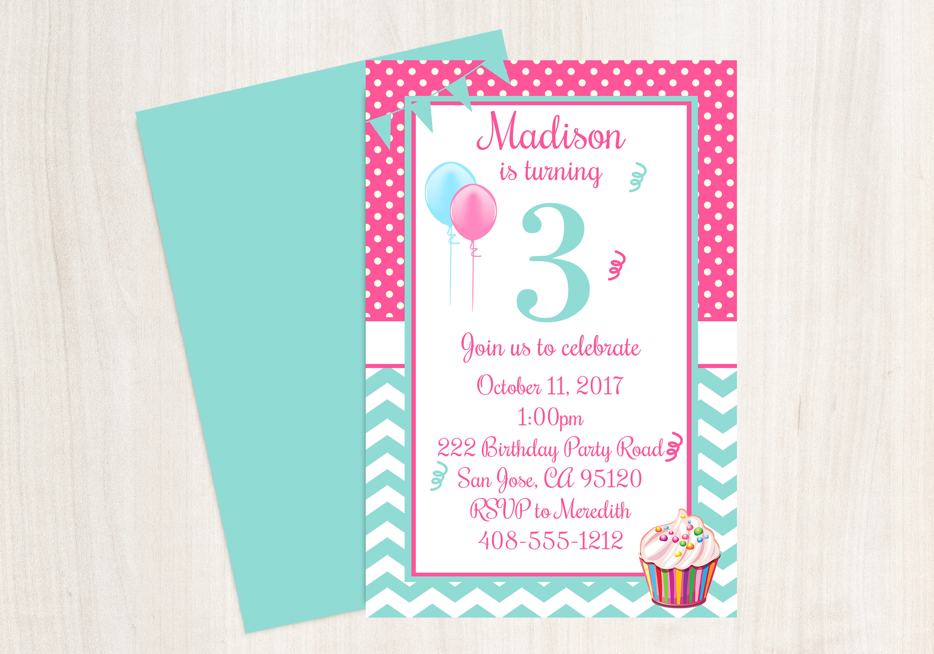 Best ideas about 3rd Birthday Invitations . Save or Pin 3rd Birthday Party Invitation 3rd Birthday Third Birthday Now.