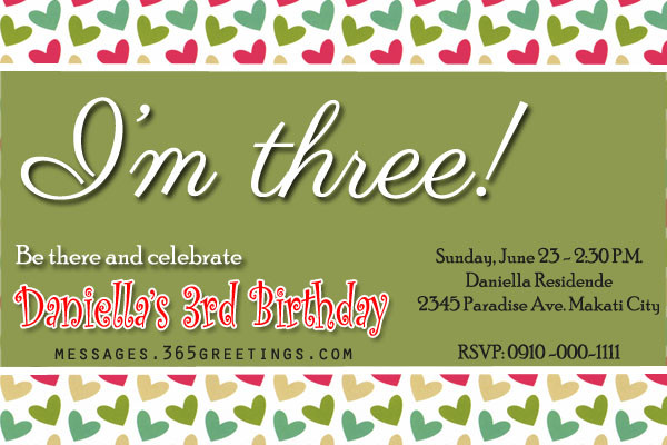 Best ideas about 3rd Birthday Invitations . Save or Pin 3rd Birthday Invitations 365greetings Now.