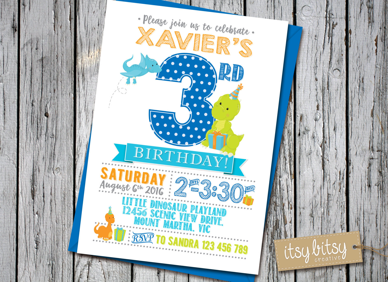 Best ideas about 3rd Birthday Invitations . Save or Pin Dinosaur Invitation Boy PRINTABLE 3rd Birthday Invitation Now.