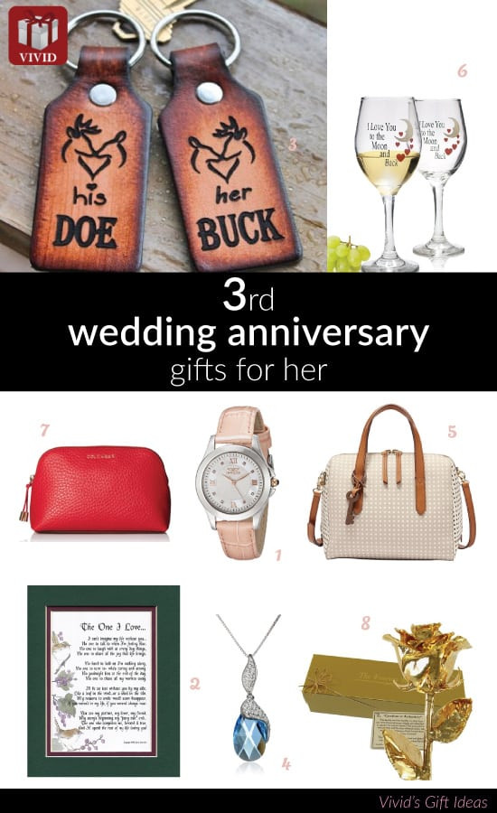 Best ideas about 3Rd Year Anniversary Gift Ideas . Save or Pin Best Gifts to Get for Wife on 3rd Anniversary Now.