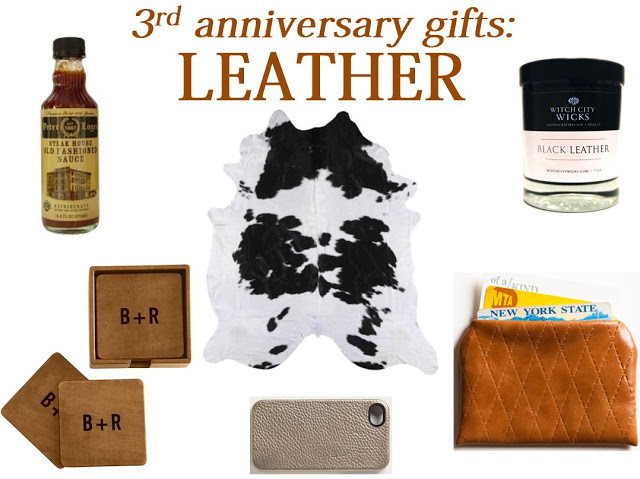 Best ideas about 3Rd Year Anniversary Gift Ideas . Save or Pin Fresh Basil 3rd Anniversary Gifts Leather Now.