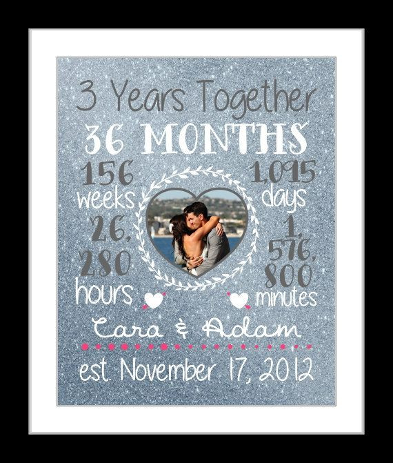 Best ideas about 3Rd Year Anniversary Gift Ideas . Save or Pin Any 3 Year Anniversary Gift 3 Year Wedding Anniversary Now.