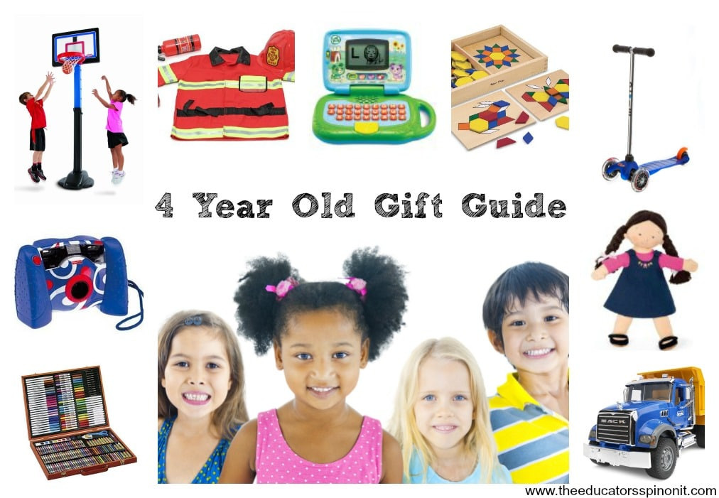 Best ideas about 4 Year Old Birthday Gift Ideas . Save or Pin 4 Year Old Birthday Gift Ideas The Educators Spin It Now.