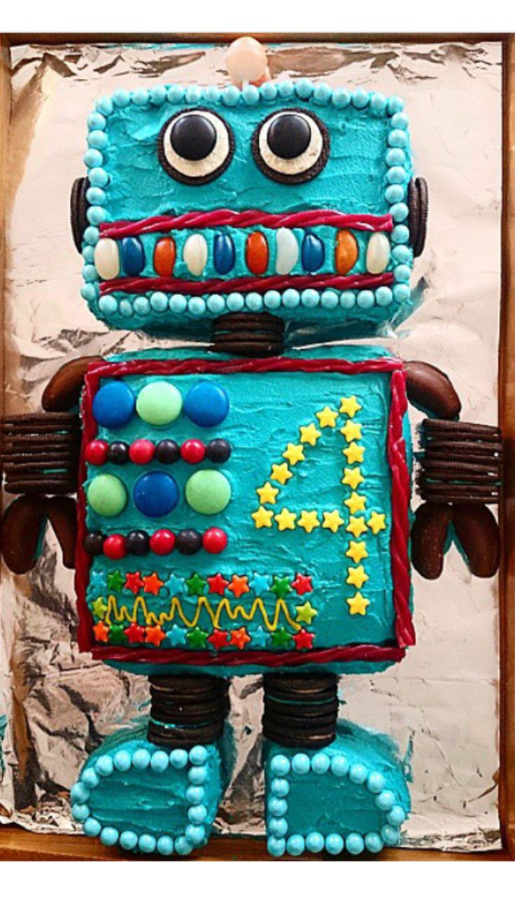 Best ideas about 4 Year Old Birthday Party Ideas . Save or Pin 17 best ideas about Robot Cake on Pinterest Now.