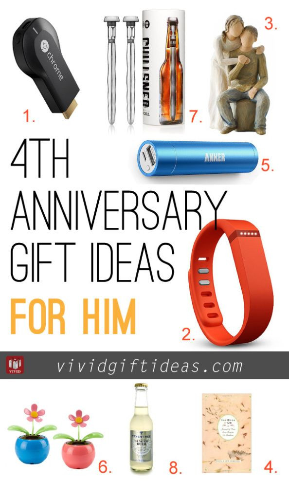 Best ideas about 4 Year Wedding Anniversary Gift Ideas For Him . Save or Pin 4th Wedding Anniversary Gift Ideas Now.