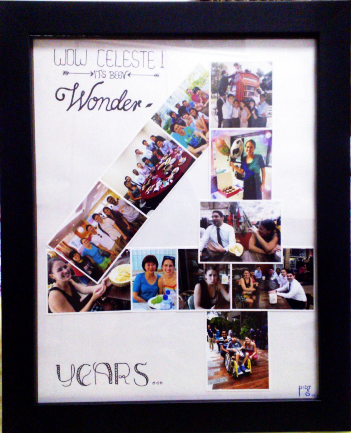 Best ideas about 4 Year Wedding Anniversary Gift Ideas For Him . Save or Pin DIY 4 years anniversary photo collage Now.
