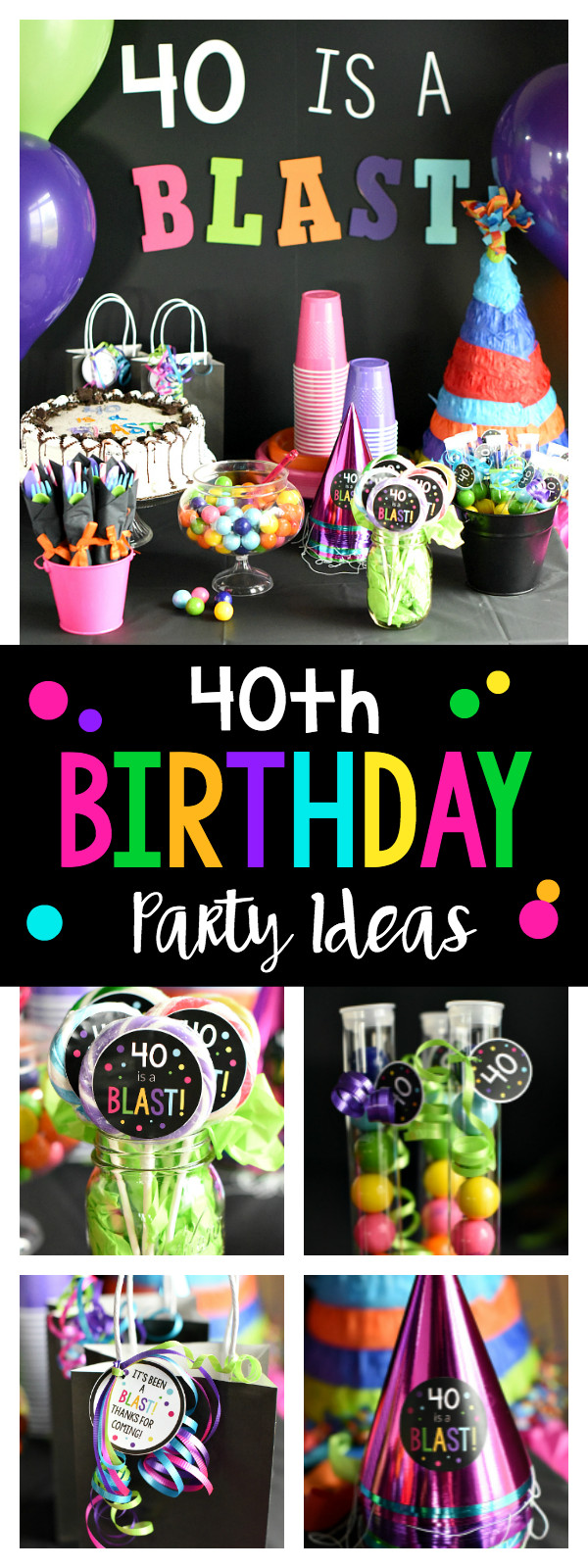Best ideas about 40 Birthday Decorations . Save or Pin 40th Birthday Party 40 is a Blast – Fun Squared Now.