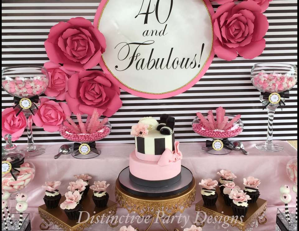 """Best ideas about 40 Birthday Decorations . Save or Pin Fashion Birthday """"""""40 and Fabulous"""""""" Now."""