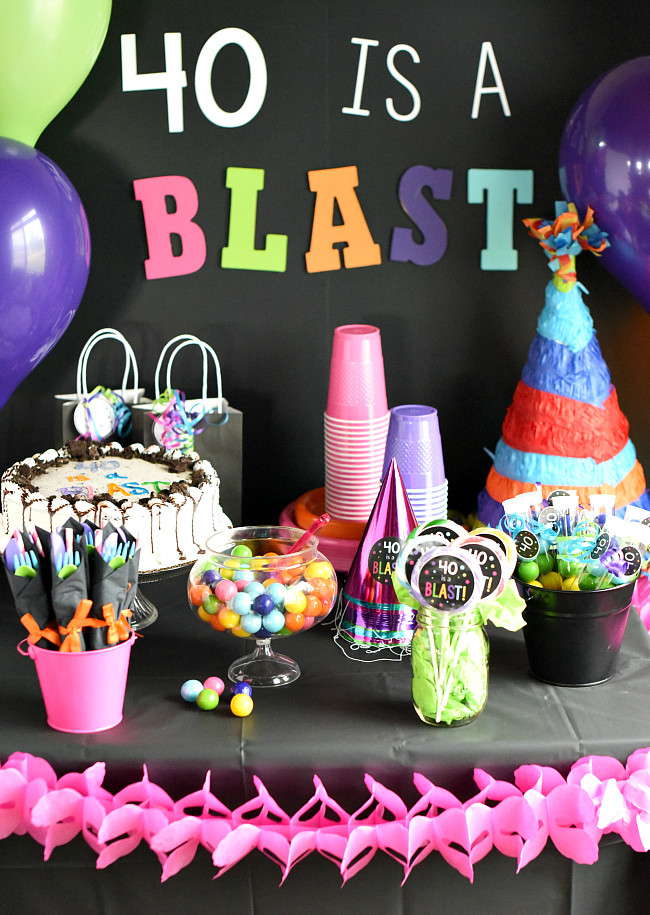 Best ideas about 40 Birthday Decorations . Save or Pin 40th Birthday Party Throw a 40 Is a Blast Party Now.