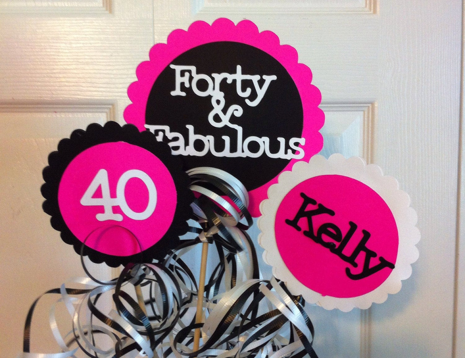 Best ideas about 40 Birthday Decorations . Save or Pin 40th Birthday Decorations 3 piece Centerpiece Sign Set with Now.