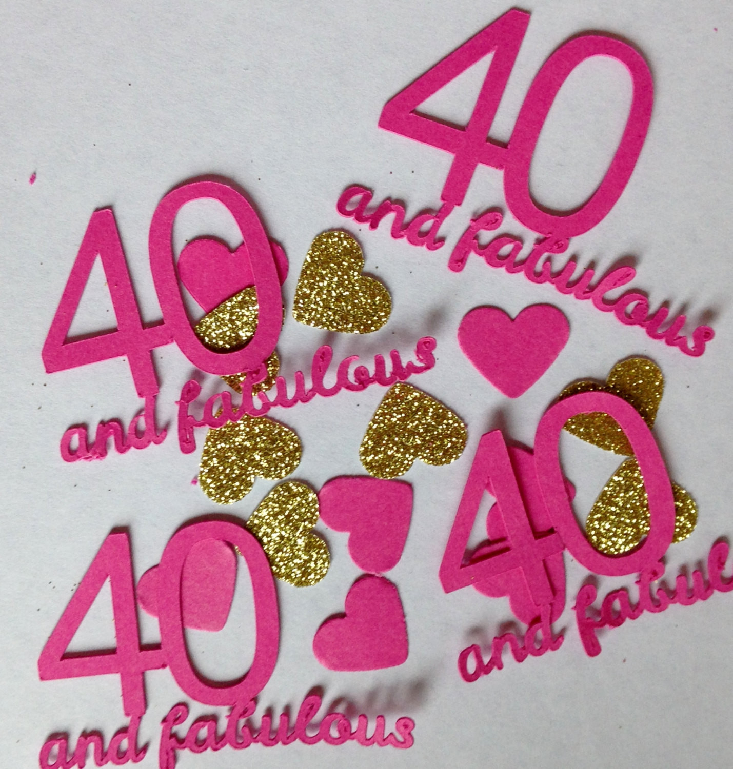 Best ideas about 40 Birthday Decorations . Save or Pin 40 & Fabulous Table Confetti 40th Birthday Party Now.