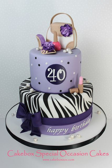 Best ideas about 40th Birthday Cake Ideas . Save or Pin 40th Birthday Cake Cecily s party Now.