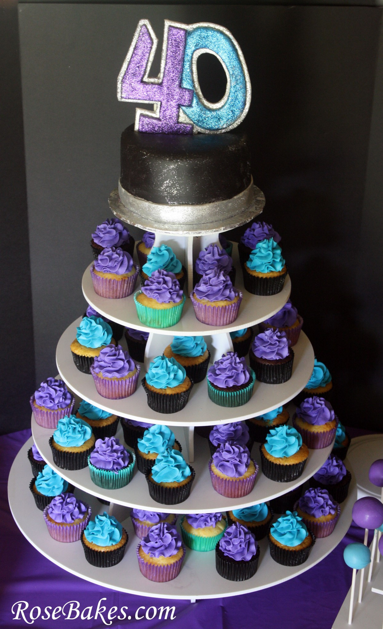 Best ideas about 40th Birthday Cake Ideas . Save or Pin 40th Birthday Cake Cupcakes & Cake Pops A Party for my Now.