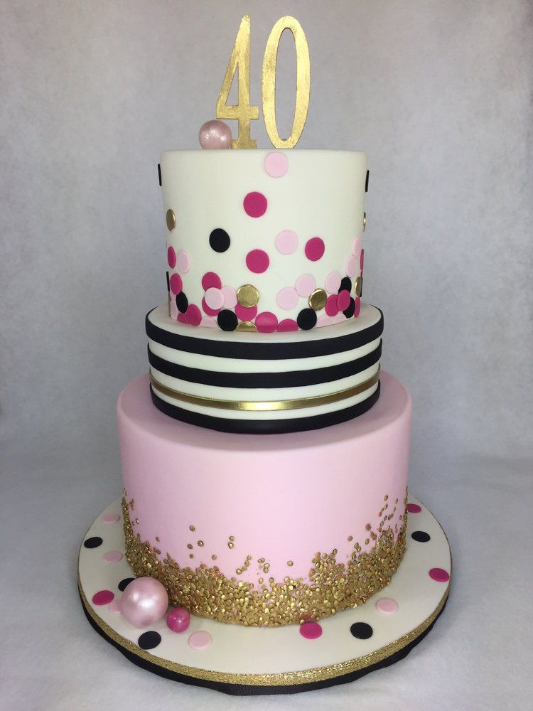 Best ideas about 40th Birthday Cake Ideas . Save or Pin Kate Spade inspired 40th Birthday Cake by Lettherebecake Now.