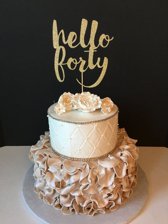 Best ideas about 40th Birthday Cake Ideas . Save or Pin Best 25 40th birthday cakes ideas on Pinterest Now.