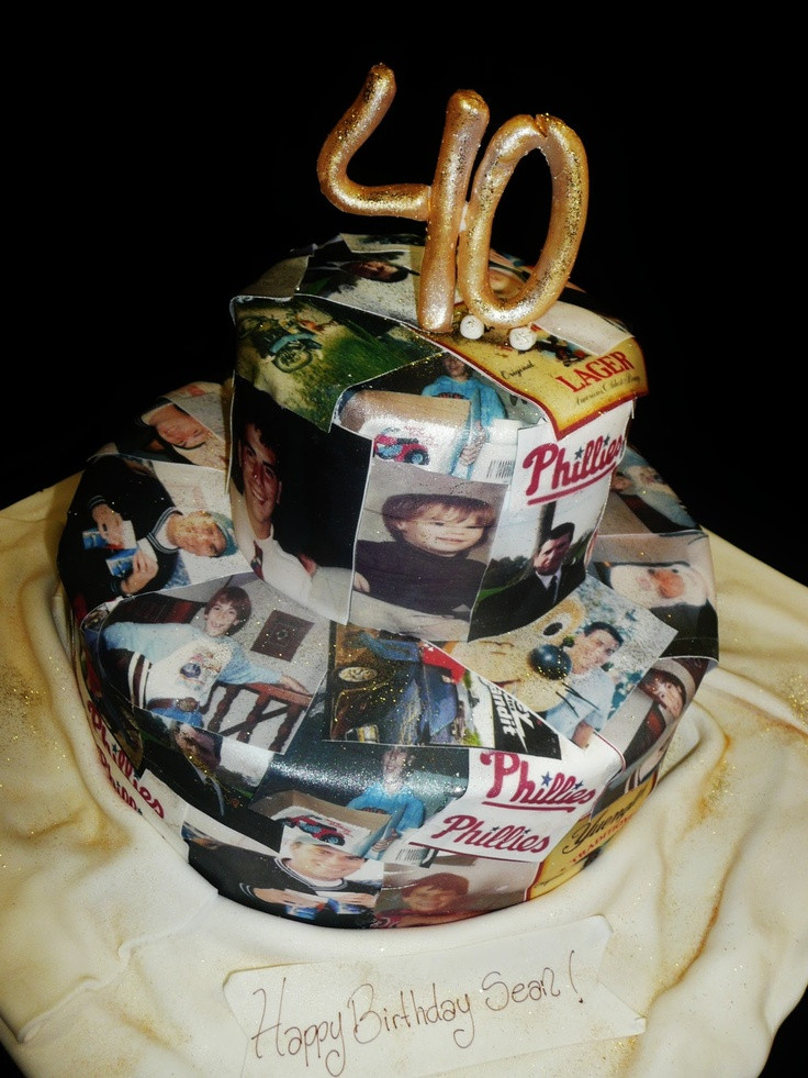 Best ideas about 40th Birthday Cake Ideas . Save or Pin 17 best Dad s 40th Birthday images on Pinterest Now.