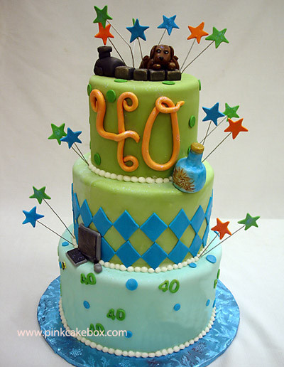 Best ideas about 40th Birthday Cake Ideas . Save or Pin 40th Birthday Cakes Now.