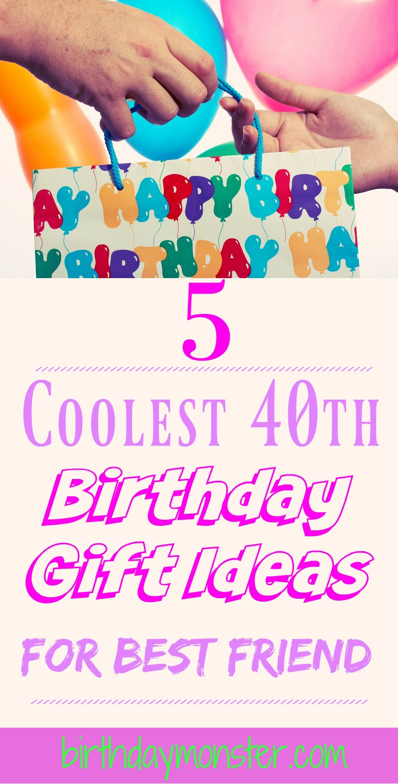 Best ideas about 40Th Birthday Gift Ideas For Best Friend . Save or Pin 40th Birthday Gift Ideas For Best Friend Birthday Monster Now.