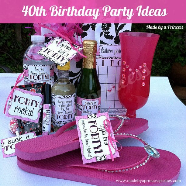 Best ideas about 40Th Birthday Gift Ideas For Best Friend . Save or Pin 40th Birthday Party Set Made by A Princess Now.