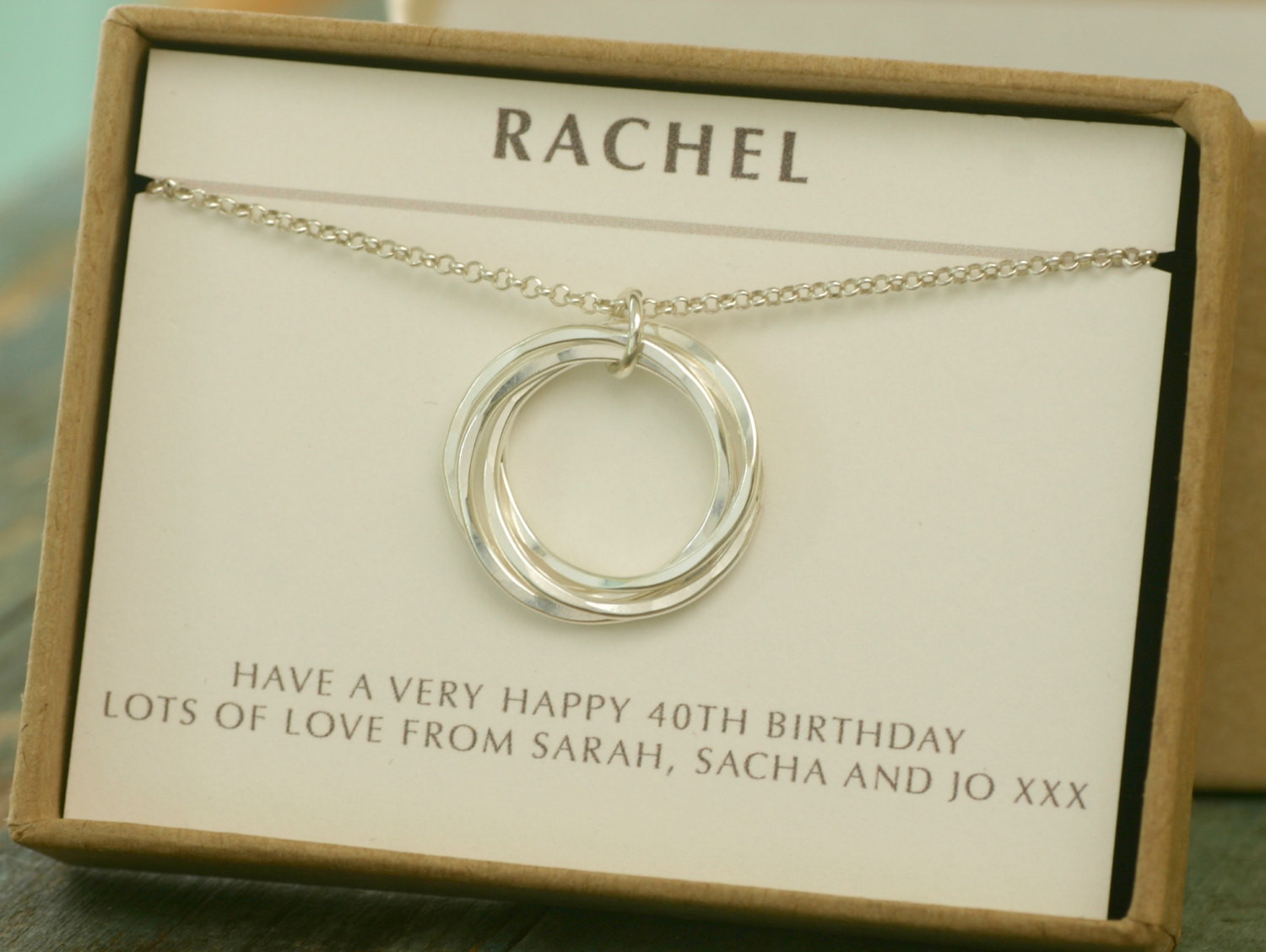 Best ideas about 40Th Birthday Gift Ideas For Best Friend . Save or Pin 40th birthday t 4 best friend necklace 4 sister jewelry Now.