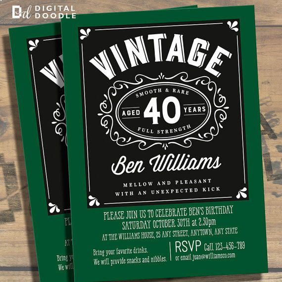 Best ideas about 40th Birthday Invitations For Him . Save or Pin Awesome FREE Template 40th Birthday Party Invitations Now.