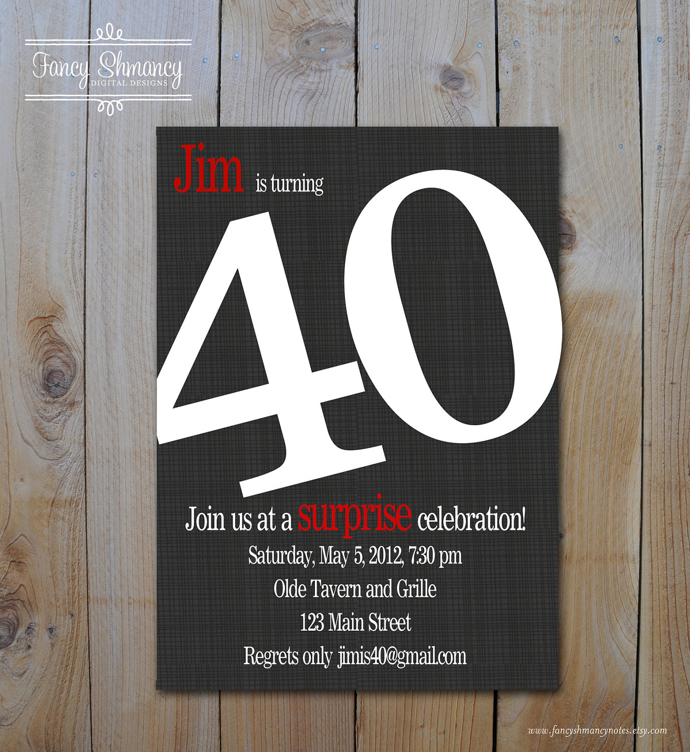 Best ideas about 40th Birthday Invitations For Him . Save or Pin 8 40th birthday Invitations Ideas and Themes – Sample Now.