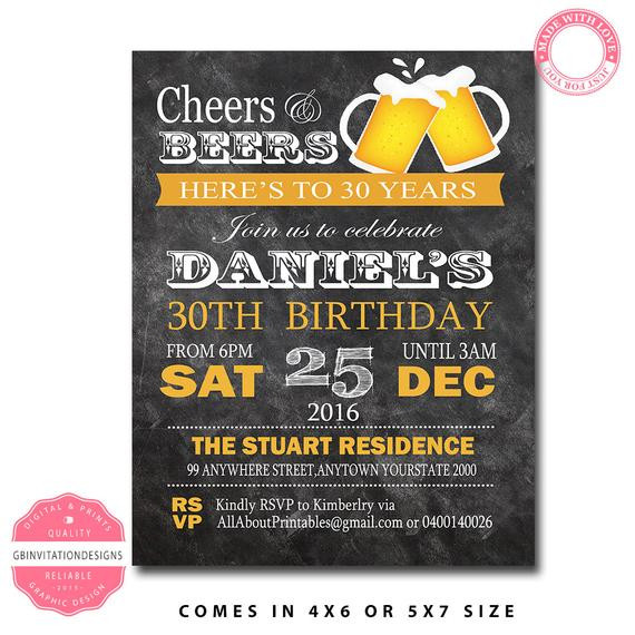 Best ideas about 40th Birthday Invitations For Him . Save or Pin 40th birthday invitation for men 30th birthday invitation Now.