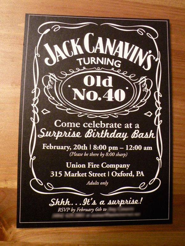 Best ideas about 40th Birthday Invitations For Him . Save or Pin 40th Birthday Invitations on Pinterest Now.