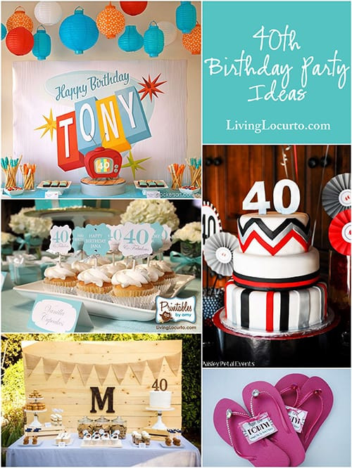 Best ideas about 40th Birthday Party Decorations Ideas . Save or Pin 40th Birthday Party Ideas Now.