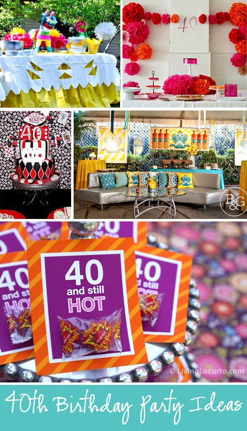 Best ideas about 40th Birthday Party Decorations Ideas . Save or Pin 10 Amazing 40th Birthday Party Ideas for Men and Women Now.