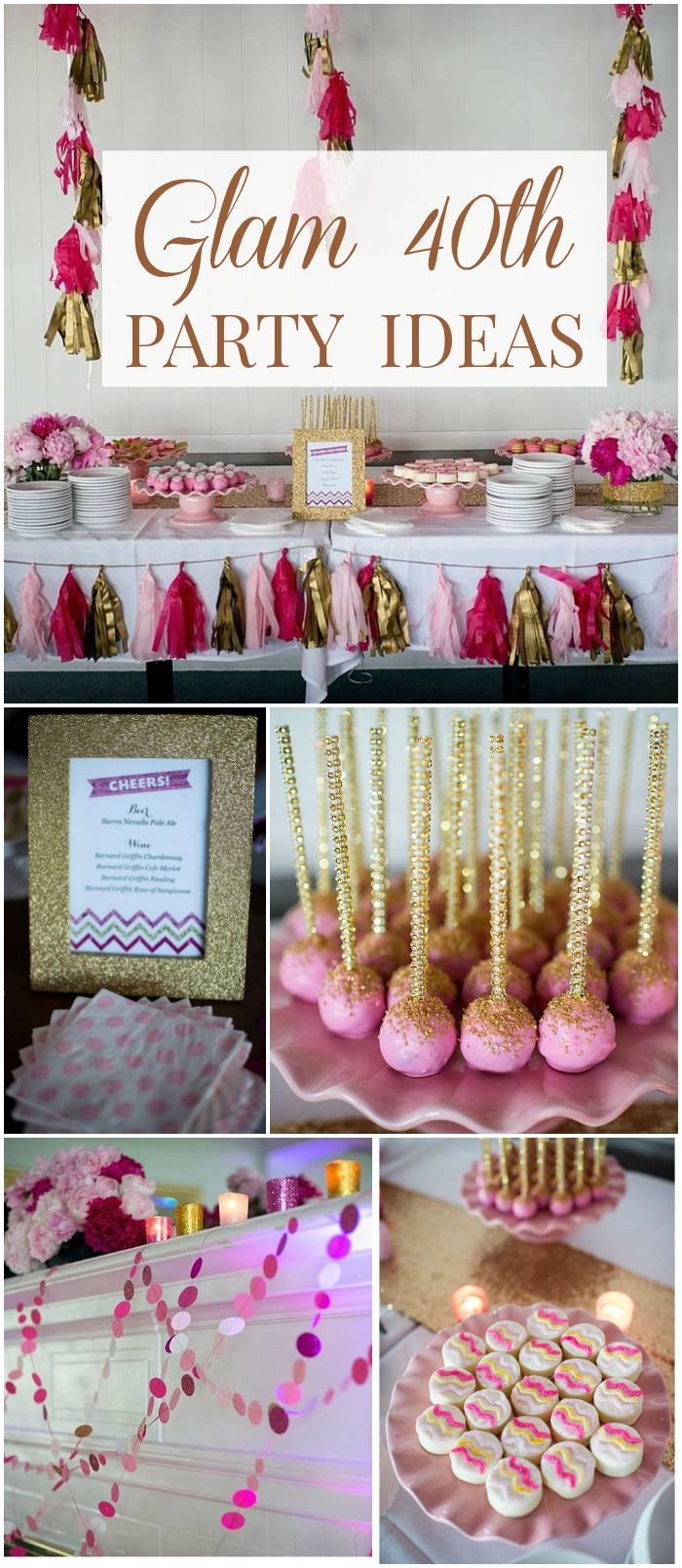 Best ideas about 40th Birthday Party Decorations Ideas . Save or Pin 25 best ideas about 40th Birthday on Pinterest Now.