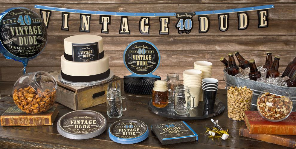 Best ideas about 40th Birthday Party Decorations Ideas . Save or Pin Vintage Dude 40th Birthday Party Supplies Now.