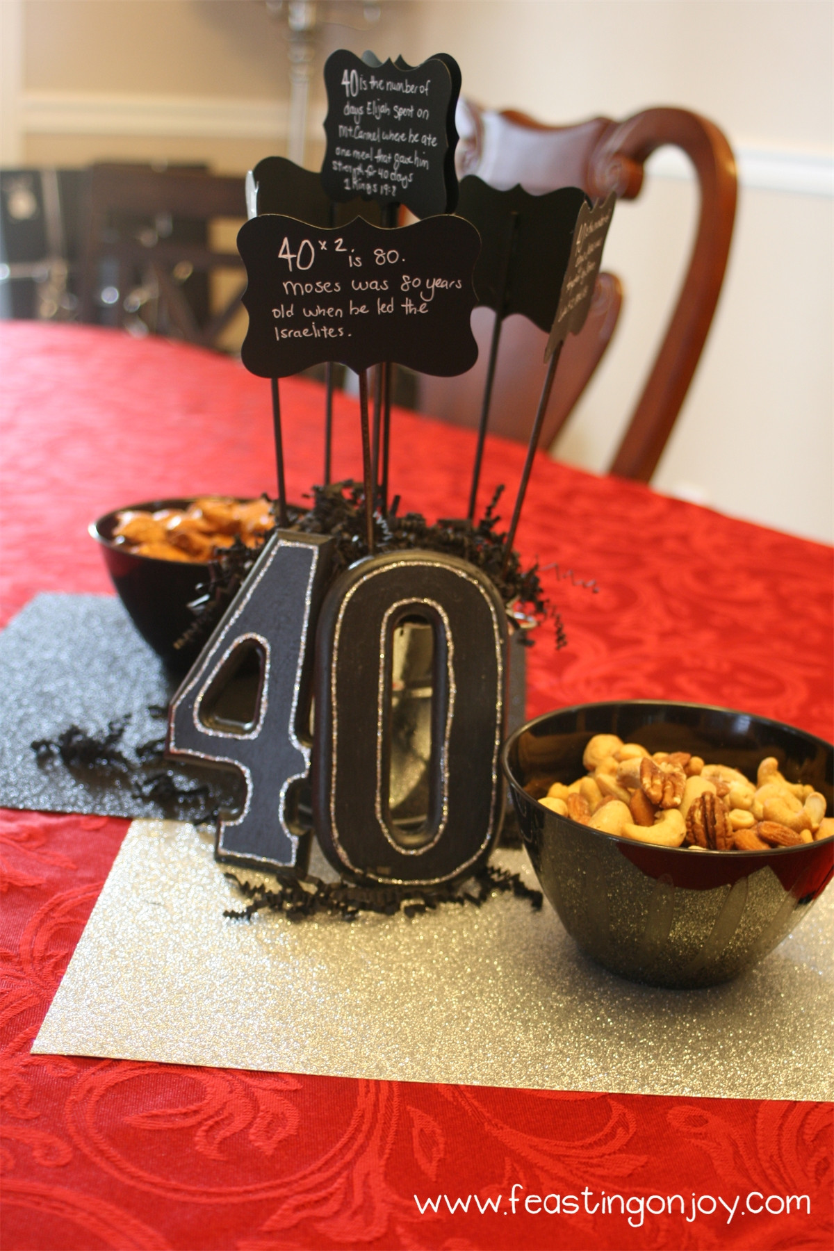 Best ideas about 40th Birthday Party Ideas . Save or Pin A Christian themed manly surprise 40th birthday party Now.