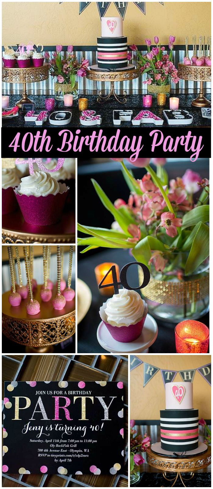 Best ideas about 40th Birthday Party Ideas . Save or Pin 25 best ideas about 40th Birthday Decorations on Now.
