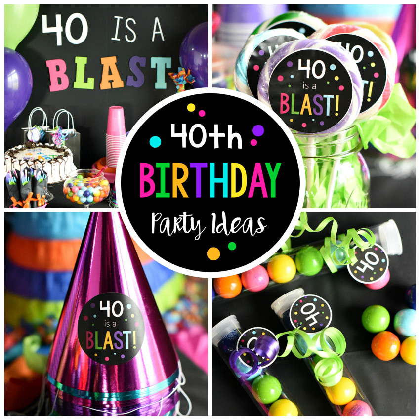 Best ideas about 40th Birthday Party Ideas . Save or Pin 40th Birthday Party Throw a 40 Is a Blast Party Now.